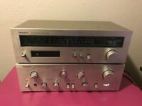 Vintage TECHNICS SU-V2 Stereo Integrated DC Amplifier & ST-S1 SM/AM Stereo Tuner