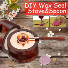 DIY Spoon Furnace Greeting Card Stove Pot Melting Wax Sealing Craft Seal Stamp