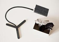 LED Tischleuchte Snooze mit Basis Design Edoardo Colzani schwarz/silber geblümt