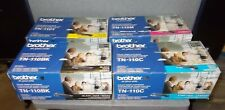 Set of 4 Genuine Brother TN110 Toner Cartridges ~ All 4 Colors ~ NEW