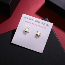 Cute New Fashion Jewelry Petite Yellow Gold Alloy Star Stud Post Earrings