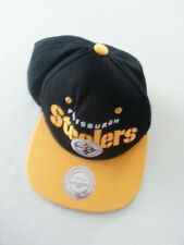 Pittsburgh Steelers NFL Mitchell & Ness Logo Snapback Hat cap black pennsylvania