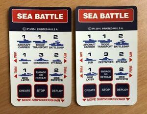 Intellivision - SEA BATTLE - Brand New Overlays