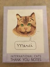 International Cats Thank You Notes - The Frantic Meerkat 16 cards
