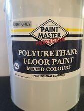 LIGHT GREY POLYURETHANE GARAGE/WORKSHOP FLOOR PAINT 5 LT
