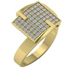 Anniversary Hand Ring Vs1 E Right 0.60 Carat Round Cut Diamond 14K White Gold