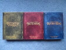 LORD OF THE RINGS Trilogy Platinum/Extended Edition; 12 DVDs in 3 Box Sets + FS