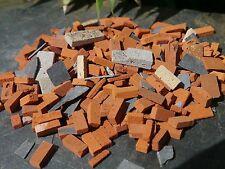 110g 1:19th/Garden Railway REAL Brick & Stone Miniature Builders Rubble 25sq ins