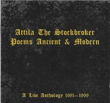 ATTILA THE STOCKBROKER Poems Ancient & Modern : A Live Anthology 1981-99 CD Peel