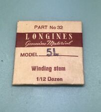 Brand New Genuine Longines 5L Winding Stem Part With Original Packaging