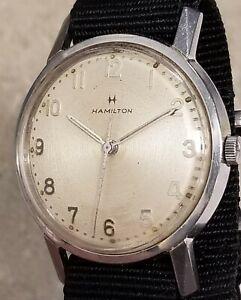 Hamilton Stainless Steel Watch 18 Jewels 748 Manual Wind