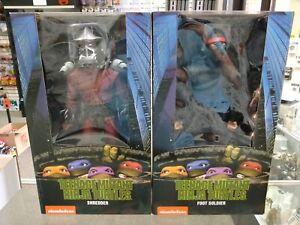 NECA Teenage Mutant Ninja Turtles 1/4 Scale Shredder & Foot Soldier Lot!!!