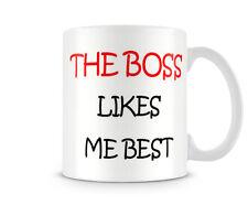 LMB_005 THE BOSS Likes me best mug, funny custom personalised printed gift mugs