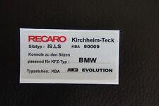 BMW E30 M3 Evolution Sport seats