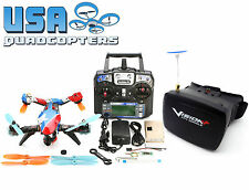 Eachine V-Tail 210 RTF FPV Racing Drone with Vision+ 5.8G Goggles System (Blue)
