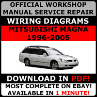 OFFICIAL WORKSHOP SERVICE Repair MANUAL MITSUBISHI MAGNA 1996-2005 +WIRING