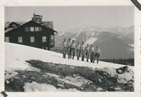 Vintage photograph,  shirtless young soldiers in mountain, gay interest