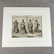 Rare Chinese Print 18th Century Engraving Nathaniel Parr Emperor of China Bonza