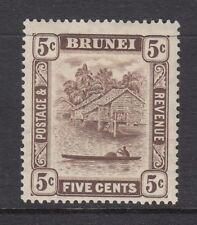 BRUNEI SG68 1933 5c CHOCOLATE MTD MINT