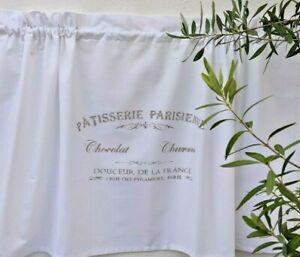 Scheibengardine Landhaus Bistrogardine Vorhang weiß Shabby Weiß Küche Patisserie