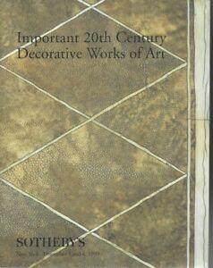 20th CENTURY DECORATIVE WORKS OF ART CATALOGUE VENTE SOTHEBY'S  NY 3-4/12/1999