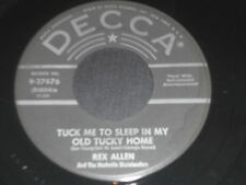 """REX ALLEN NM- Tuck Me To Sleep In My Old Tucky Home 45 Ragtime Melody 9-27876 7"""""""