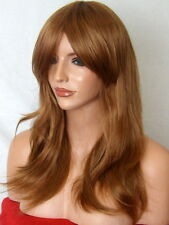 Light Brown Auburn Ginger Wig party Lady Ladies Full Wig cheap heat resist L-10
