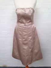 Debenhams Debut Cream Satin Dress ~ Size Uk10 ~ Good Condition