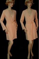 NWT ST JOHN Sorbet Double Face  Wool Crepe Coat sz 10 fitted, pockets, belt