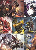 MARVEL HEROES & VILLAINS 2010 U PICK PARALLEL  INSERT CARDS 5 FOR $4.99 MA