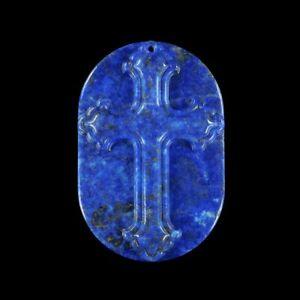 Lapis Lazuli 60x40x7 mm CROSS bead GL605035