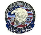 American Heroes Eagle Car Truck Automotive Grill Emblem Heavy Metal EE6126 F6D3U