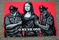 MUNK ONE Sticker RED MONA LISA ARRESTED from poster print Invisible Industries