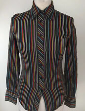 PAUL SMITH BLACK Womens Striped Shirt Size 38