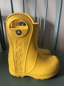 Crocs Wellies Infants Yellow Size C6