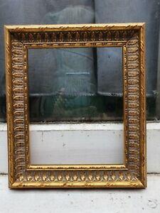 "VINTAGE WOOD WOODEN GOLD GILT GESSO PHOTO PICTURE FRAME 6 3/4""W X 8 7/8""D"