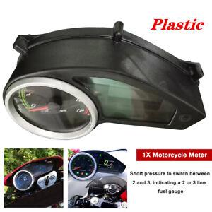 1X 12V Universal Motorcycle LCD Black Digital Odometer Speedometer Gauge Meter