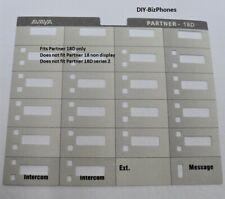 Avaya Lucent Partner 18d Euro Series 1 Phone Paper Desi Label Strip
