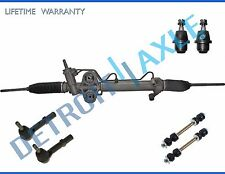 7pc Power Steering Rack and Pinion + Ball Joint + inner Outer Tierod + Sway bar
