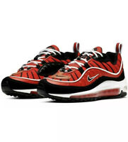 Nike Air Max 98 GS (Grade School). Habanero Red/White/Gold BV4872-601 Size 5.5Y