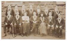 Postcard Young Men & Woman Society Wearing Sashes Social History RPPC 22
