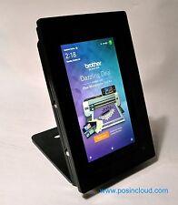 "Black Acrylic Anti-theft Security Desktop Stand for Amazon Fire 7"" as Kiosk POS"