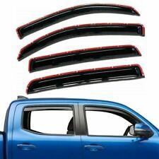 For 2016-2021 Toyota Tacoma 4pc Smoke Window Sun Rain Visors Wind Guard Crew Cab