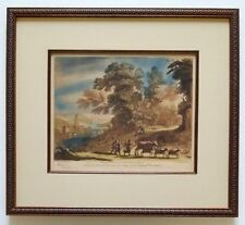 No. 34 Mezzotint ART PRINT R. Earlom After CLAUDE LORRAIN John Boydell Engraver