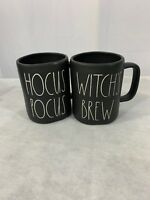 Rae Dunn Hocus Pocus Witch's Brew Black Halloween Mugs New Set Of 2