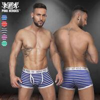 Pink Hero Men's Sexy Comfy Underwear Boxer Briefs Shorts Bulge Pouch Underpants