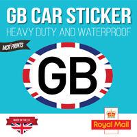 GB CAR STICKERS Oval Euro Car Van Lorry Vinyl Self Adhesive  - 180mm x 133mm