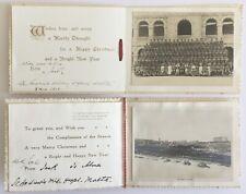VINTAGE MILITARY WW1 CHRISTMAS CARDS.R.A.M.C. ST ANDREWS HOSPITAL, MALTA.1916