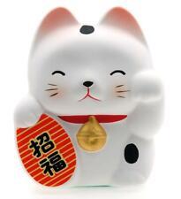 More details for maneki neko feng shui lucky cat – white for health 6.7cm