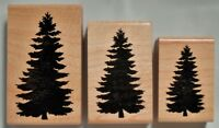 Pine Tree Silhouette mounted rubber stamp - 3 sizes - You Choose! Christmas #24